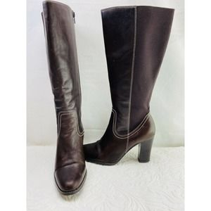 Women's Tall Brown Leather Boots Size 7
